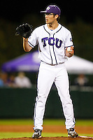 Matt Purke (47) April 27th, 2010; NCAA Baseball action, Baylor University Bears vs TCU Horned Frogs at Lupton Stadium in Fort Worth, Tx;  TCU won 5-4 in extra innings.