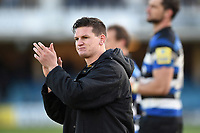 Freddie Burns of Bath Rugby acknowledges the crowd after the match. Aviva Premiership match, between Bath Rugby and Harlequins on November 25, 2017 at the Recreation Ground in Bath, England. Photo by: Patrick Khachfe / Onside Images