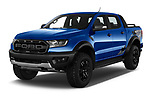 2019 Ford Ranger-Raptor - 4 Door Pick-up Angular Front automotive stock photos of front three quarter view