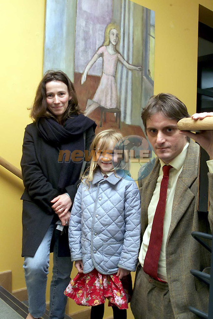 Siobhan, Lily and Patrick Coinyngham at the art exhibition in Duleek..Picture: Paul Mohan/Newsfile