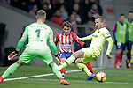 Club Atletico de Madrid's Antoine Griezmann and Futbol Club Barcelona's Marc-Andre Ter Stegen and Arthur Melo  during La Liga match. November 24,2018. (ALTERPHOTOS/Alconada)