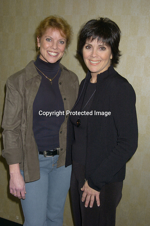 Joyce DeWitt and Erin Moran..at a press event for Mike Carbonaro's Big Apple Comic Book, Art and Toy Show on January 21, 2005 at The Penn Plaza Pavilion. The event is on January 22 and January 23, 2005. ..Photo by Robin Platzer, Twin Images