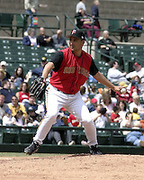 May 16, 2004:  Pitcher Carlos Pulido of the Rochester Red Wings, Triple-A International League affiliate of the Minnesota Twins, during a game at Frontier Field in Rochester, NY.  Photo by:  Mike Janes/Four Seam Images