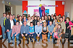 KEY TIME: Twins Marie and Jerdy Sheehan, Kilcummin, Killarney (seated centre) celebrated their 21st birthday, last Saturday in Kilcummin GAA clubhouse surrounded by friends and family..