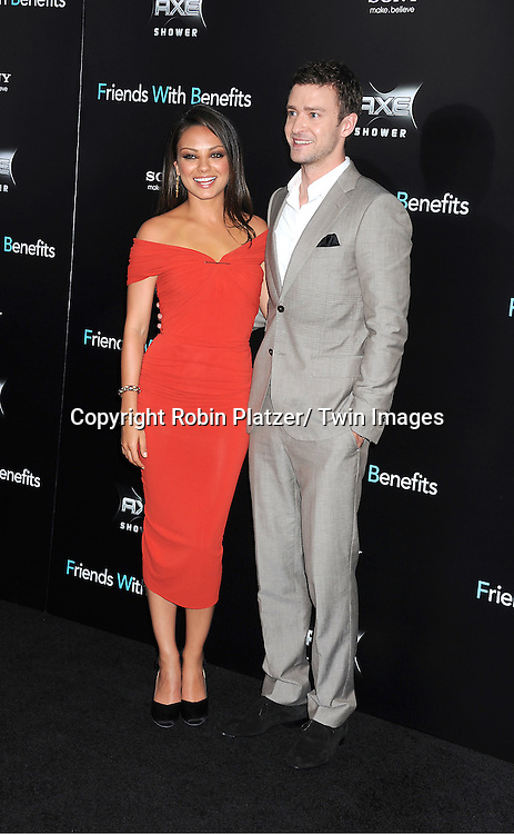 "Mila Kunis and Justin Timberlake attending the New York Premiere of ""Freinds With Benefits"" on July 18, 2011 at The Ziegfeld Theatre in New York City. The movie stars Justin Timberlake, Mila Kunis, Emma Stone, Patricia Clarkson, Jenna Elfman and Bryan Greenberg."