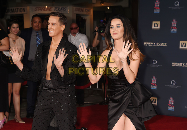 HOLLYWOOD, CA - SEPTEMBER 08: Fashion designer Jeremy Scott and singer Katy Perry at the Jeremy Scott And Katy Perry Hand Print Ceremony At TCL Chinese IMAX Forecourt on September 8, 2015 in Hollywood, California.<br /> CAP/ROT/TM<br /> &copy;TM/Roth Stock/Capital Pictures