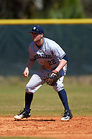 Butler Bulldogs shortstop Garrett Christman (22) during a game against the Indiana Hoosiers on March 6, 2016 at North Charlotte Regional Park in Port Charlotte, Florida.  Indiana defeated Butler 2-1.  (Mike Janes/Four Seam Images)