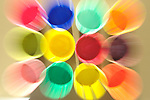 ZOOM COLOR CUPS ABSTRACT COLORFUL
