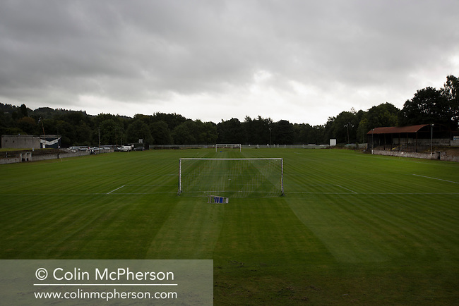 A view of Millburn Park, Alexandria, before Vale of Leven hosted Ashfield in a West of Scotland League Central District Second Division Junior fixture. Vale of Leven were one of the founder members of the Scottish League in 1890 and remained part of the SFA and League structure until 1929 when the original club folded, only to be resurrected as a member of the Scottish Junior Football Association after World War II. They lost the match to Ashfield by 4-3, having led 3-1 with 10 minutes remaining.