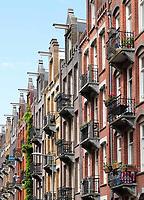 Nederland  Amsterdam - mei 2018.  Straat in Amsterdam Oost.    Foto: Berlinda van Dam / Hollandse Hoogte