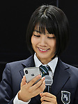 iPhone Xs, Apple, KDDI, au, Honoka Matsumoto, September 21, 2018, Tokyo, Japan : Japanese actress Honoka Matsumoto attends a launch event for Apple New iPhone XS and XS Max at the KDDI's au Shinjuku store in Tokyo, Japan, on September 21, 2018. (Photo by AFLO)