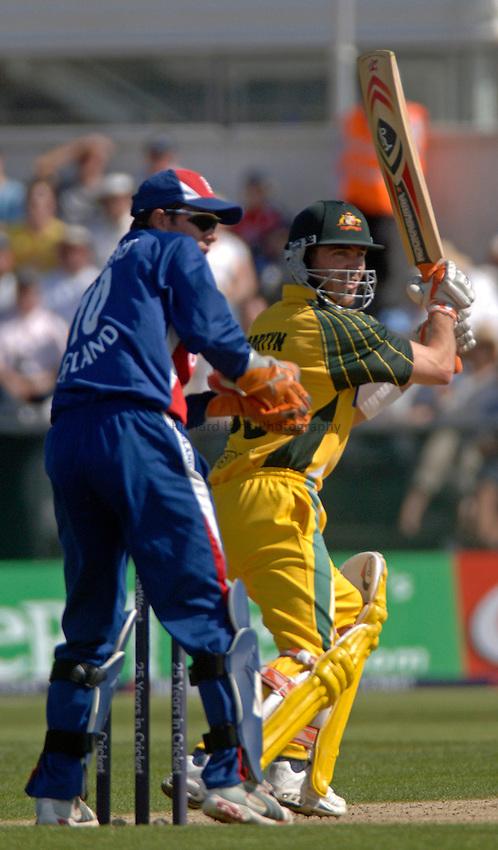 Photo: Glyn Thomas..England v Australia..Natwest Series. 23/06/2005...Australia's Damien Martyn (R).