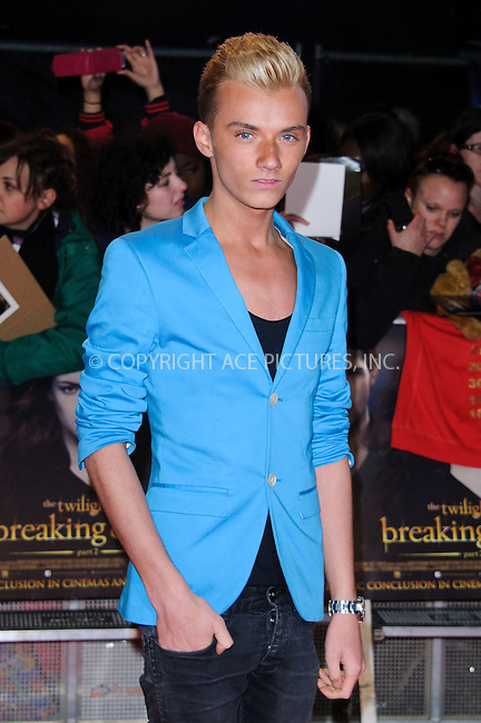 WWW.ACEPIXS.COM....US SALES ONLY....November 14, 2012, London, UK.....Harry Derbidge arriving at the London Premiere of 'The Twilight Saga: Breaking Dawn - Part 2' at the Odeon Leicester Square on November 13, 2012  in London.........By Line: Famous/ACE Pictures....ACE Pictures, Inc..Tel: 646 769 0430..Email: info@acepixs.com
