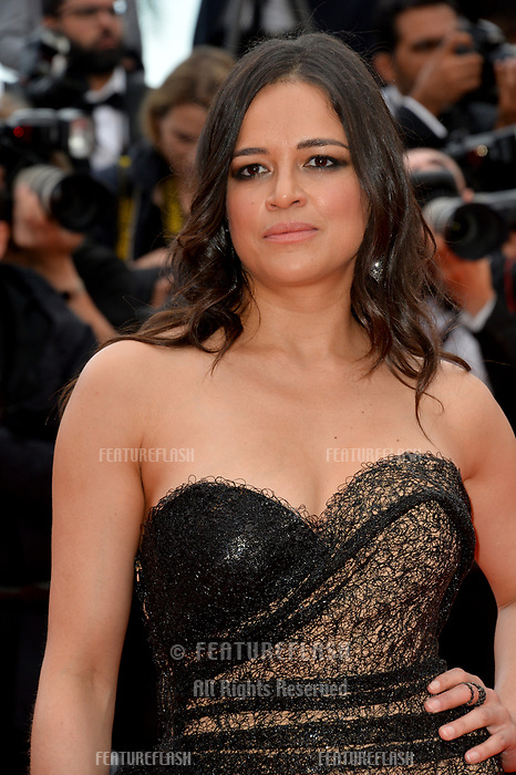 Michelle Rodriguez at the gala screening for &quot;Solo: A Star Wars Story&quot; at the 71st Festival de Cannes, Cannes, France 15 May 2018<br /> Picture: Paul Smith/Featureflash/SilverHub 0208 004 5359 sales@silverhubmedia.com