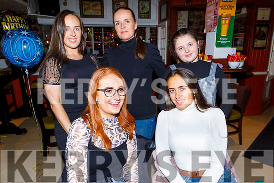 Enjoying the evening in the Brogue Inn on Saturday<br /> Seated l to r: Sharon and Brogan O'Sullivan.<br /> Back l to r: Clodagh O'Sullivan, Edele Lawlor and Shauna O'Sullivan.