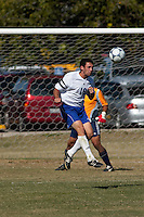 SAN ANTONIO, TX - OCTOBER 26, 2005: The University of the Incarnate Word Cardinals vs. the St. Mary's University Rattlers Men's Soccer at the St. Mary's Soccer Field. (Photo by Jeff Huehn)