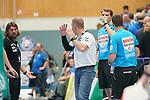 06.10.2019, Klingenhalle, Solingen,  GER, 1. HBL. Herren, Bergischer HC vs. TSV GWD Minden, <br /> <br /> im Bild / picture shows: <br /> Frank Carstens Cheftrainer / Headcoach (Minden),  regt sich heftig ueber eine Schiedsrichterentscheidung auf <br /> <br /> <br /> Foto © nordphoto / Meuter