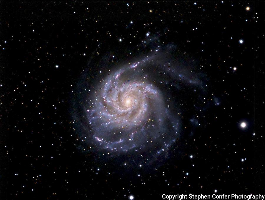 m 101, pinwheel galaxy, deep space astrophotograph, astrophotogrphy