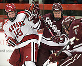 Mike Seward (Harvard - 18), Kevin McNamara (Colgate - 10) - The Harvard University Crimson defeated the visiting Colgate University Raiders 4-2 on Saturday, November 12, 2011, at Bright Hockey Center in Cambridge, Massachusetts.