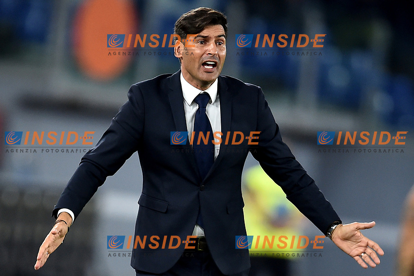 Paulo Fonseca coach of AS Roma <br /> Roma 25-9-2019 Stadio Olimpico <br /> Football Serie A 2019/2020 <br /> AS Roma - Atalanta Bergamasca Calcio <br /> Foto Andrea Staccioli / Insidefoto