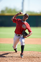 Arizona Diamondbacks pitcher Luis Frias (13) during an Instructional League game against the Colorado Rockies on October 7, 2016 at Salt River Fields at Talking Stick in Scottsdale, Arizona.  (Mike Janes/Four Seam Images)