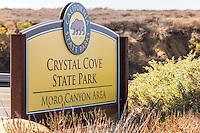 Crystal Cove State Park Signage