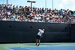 Bar Botzer of the Wake Forest Demon Deacons in action against the Ohio State Buckeyes during the 2018 NCAA Men's Tennis Championship at the Wake Forest Tennis Center on May 22, 2018 in Winston-Salem, North Carolina.  The Demon Deacons defeated the Buckeyes 4-2. (Brian Westerholt/Sports On Film)