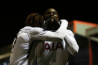 Shallow Tracey of Tottenham celebrates scoring the second goal during West Ham United Under-23 vs Tottenham Hotspur Under-23, Premier League 2 Football at the Chigwell Construction Stadium on 12th February 2018