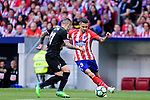 Victor Vitolo of Atletico de Madrid (R) in action against Ruben Pena Jimenez of SD Eibar (L) during the La Liga match between Atletico Madrid and Eibar at Wanda Metropolitano Stadium on May 20, 2018 in Madrid, Spain. Photo by Diego Souto / Power Sport Images