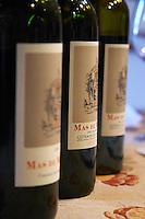 Domaine de Mas de Martin, St Bauzille de Montmel. Gres de Montpellier. Languedoc. France. Europe. Bottle.