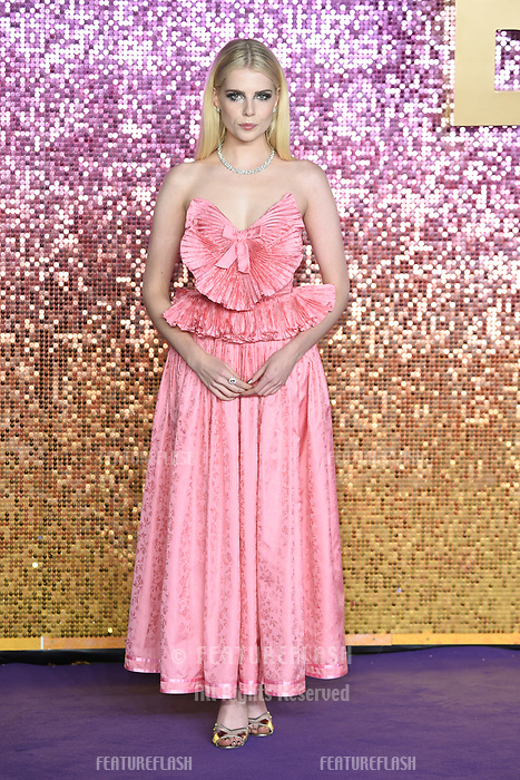 """LONDON, UK. October 23, 2018: LucyBoynton at the world premiere of """"Bohemian Rhapsody"""" at Wembley Arena, London.<br /> Picture: Steve Vas/Featureflash"""