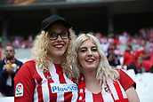 16th May 2018, Stade de Lyon, Lyon, France; Europa League football final, Marseille versus Atletico Madrid; Atletico fans ready for their team before the match in team colours