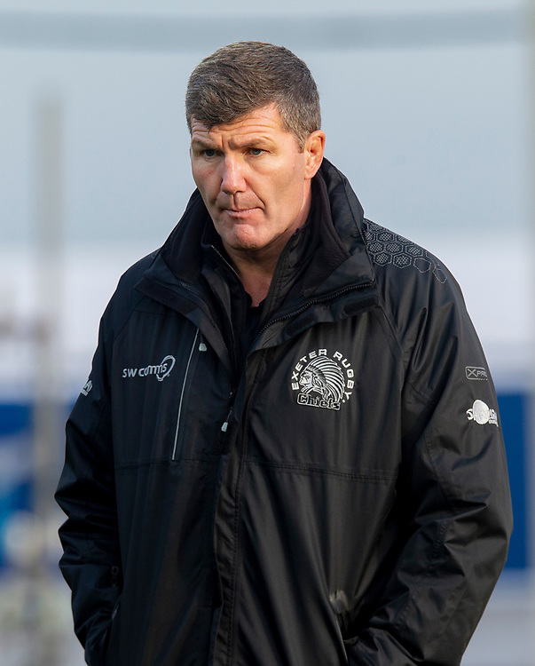 Exeter Chiefs' Head Coach Rob Baxter<br /> <br /> Photographer Bob Bradford/CameraSport<br /> <br /> Gallagher Premiership Round 10 - Exeter Chiefs v Saracens - Saturday 22nd December 2018 - Sandy Park - Exeter<br /> <br /> World Copyright © 2018 CameraSport. All rights reserved. 43 Linden Ave. Countesthorpe. Leicester. England. LE8 5PG - Tel: +44 (0) 116 277 4147 - admin@camerasport.com - www.camerasport.com
