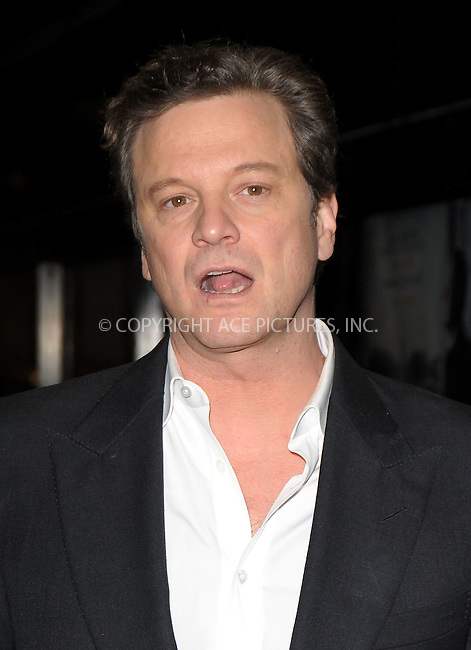 WWW.ACEPIXS.COM . . . . .  ..... . . . . US SALES ONLY . . . . .....December 9 2010, London....Colin Firth at a charity screening of The King's Speech in aid of the Michael Palin Centre for Stammering Children at the Curzon Mayfair on December 9 2010 in London....Please byline: FAMOUS-ACE PICTURES... . . . .  ....Ace Pictures, Inc:  ..Tel: (212) 243-8787..e-mail: info@acepixs.com..web: http://www.acepixs.com