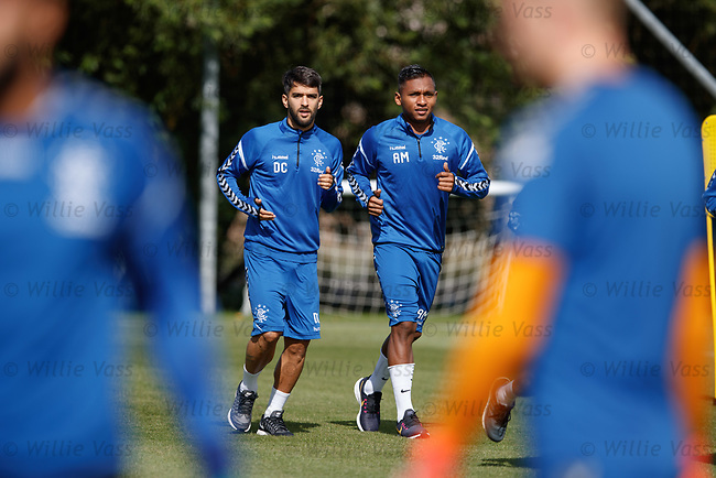 10.08.18 Rangers training: Daniel Candeias and Alfredo Morelos