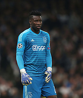 Andre Onana of Ajax<br /> <br /> Photographer Rob Newell/CameraSport<br /> <br /> UEFA Champions League - Tottenham Hotspur v Ajax - Tuesday 30th April 2019 - White Hart Lane - London<br />  <br /> World Copyright © 2018 CameraSport. All rights reserved. 43 Linden Ave. Countesthorpe. Leicester. England. LE8 5PG - Tel: +44 (0) 116 277 4147 - admin@camerasport.com - www.camerasport.com