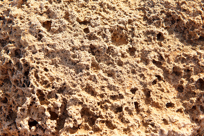 close up of erroded sandstone rocks, Ios Cyclades Island Greece