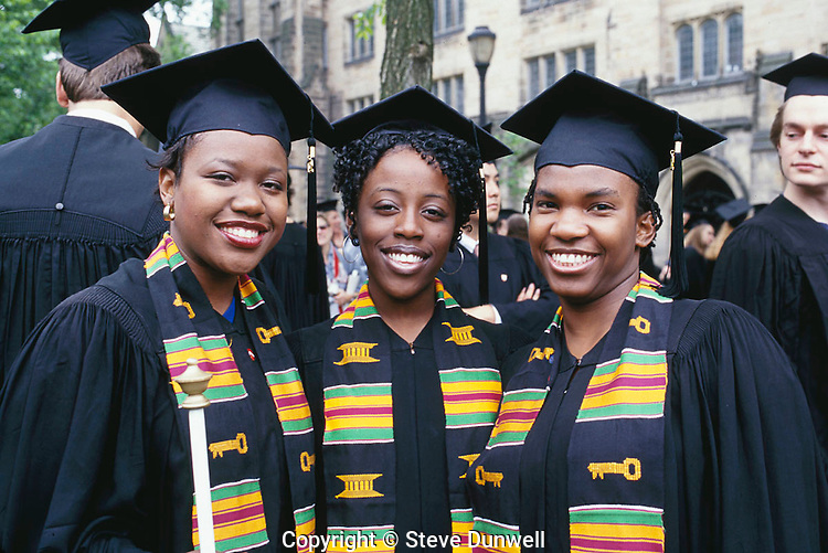 African American student graduation, Yale University, New Haven, CT