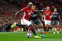 Manchester United's Paul Pogba and Southampton's Jordy Clasie<br /> Manchester 19-08-2016<br /> Premier League,<br /> Manchester United - Southampton <br /> Foto Jason Cairnduff/Panoramic/Insidefoto