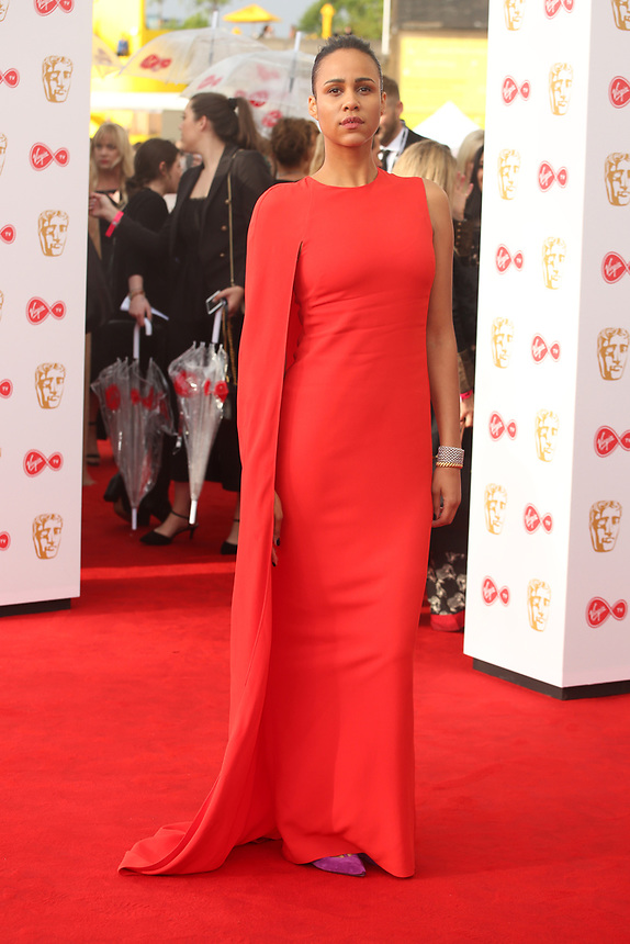 Zawe Ashton<br />  arriving at the Bafta Tv awards 2017. Royal Festival Hall,London  <br /> ©Ash Knotek