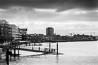 Hammersmith. London. United Kingdom,  Competitors/ Crew boating from Fulham Reach Rowing Club2018 Men's Head of the River Race.  Championship Course, Mortlake to Putney River Thames, <br /> <br /> Sunday   11/03/2018<br /> <br /> [Mandatory Credit:Peter SPURRIER Intersport Images]<br /> <br /> Leica Camera AG  M9 Digital Camera  1/500 sec. 50 mm f. 160 ISO.  17.5MB