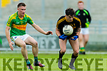 Tony Brosnan  Dr Crokes in action against Brian Sugrue South Kerry in the Senior County Football Final in Austin Stack Park on Sunday