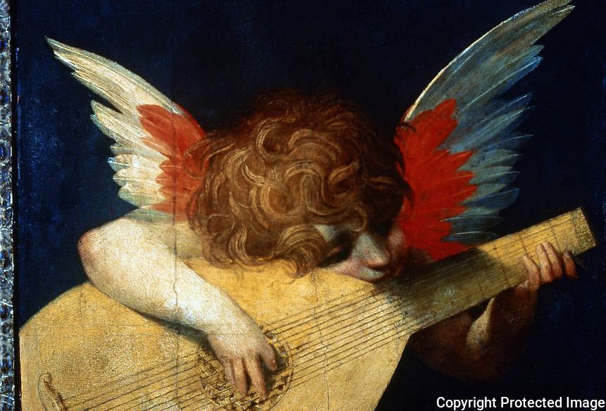 Renaissance Art:  Rosso Fiorentino--Child Playing the Guitar.  Galleria Uffizi.