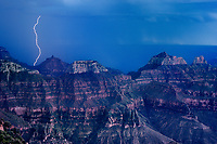 749220220 during a monsoon summer lightning strikes the weather eroded formations along the north rim of grand canyon national park in northern arizona