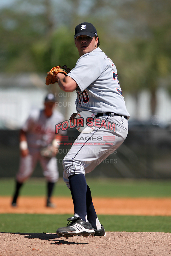 Detroit Tigers minor leaguer Ricky Steik during Spring Training at the Chain of Lakes Complex on March 17, 2007 in Winter Haven, Florida.  (Mike Janes/Four Seam Images)