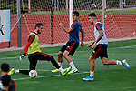 David de Gea, Oyarzabal and Unai Nunez during the Trainee Session at Ciudad del Futbol in Las Rozas, Spain. September 02, 2019. (ALTERPHOTOS/A. Perez Meca)