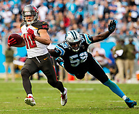 Photography of the Carolina Panthers v. The Tampa Bay Bucs at Bank of America Stadium in Charlotte, North Carolina.<br /> <br /> Charlotte Photographer - PatrickSchneiderPhoto.com