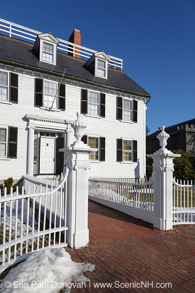 The Ropes Mansion in Salem, Massachusetts USA which is part of New England