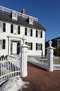 The Ropes Mansion in Salem, Massachusetts USA. Built sometime in the late 1720s, this mansion is located on Essex Street.