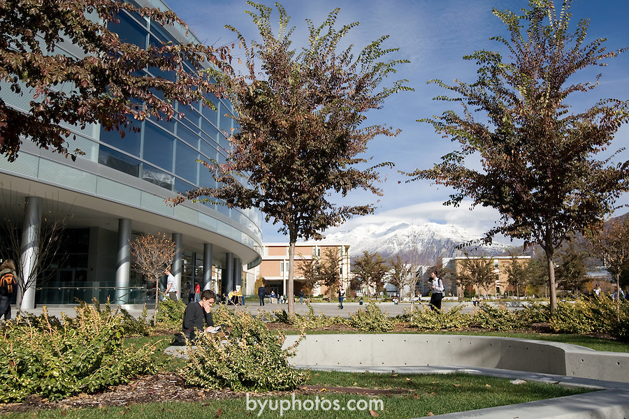 0811-01 GCS November.0811-01 GCS 018..Hinckley Tower (GBHB) and Timp Mountain, Talmage Building (TMCB), and JFSB .  General Campus Scenics (GCS) around campus...November 3, 2008..Photo by: Mark Philbrick/BYU..Copyright BYU PHOTO 2008.All Rights Reserved.801-422-7322.photo@byu.edu.